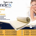Syndex Memory Foam Topper size 183*198* thick 5 cms 0